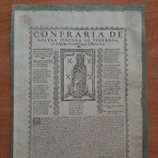 Arte: 1630 CONFRARÍA DE Nª Sª DE SPERANSA EN LA IGLESIA DE SANT CULGAT / 1885 GOZOS DEL OBISPO SAN LOPE. Lote 254866640