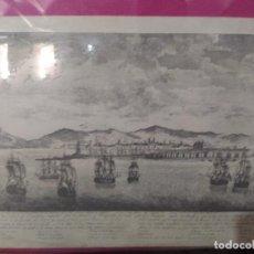Arte: GRABADO ASEDIO DE BARCELONA POR PARTE DE LOS FRANCESES. REPRODUCCIÓN. Lote 254985865