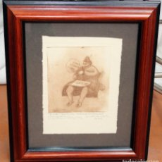Arte: ALEXANDRE DE RIQUER (1856-1920) AGUAFUERTE PERTENECIENTE DE LA FUNDACION LA CAIXA. Lote 255524235