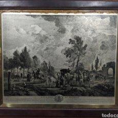Arte: GRABADO FRANCÉS EN PLACA DE METAL 1752. Lote 255612535