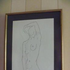 Arte: DESNUDO FEMENINO JULIO FERNANDEZ ARGÜELLES GRABADO NUMERADO PINTOR ESCULTOR. Lote 255614900