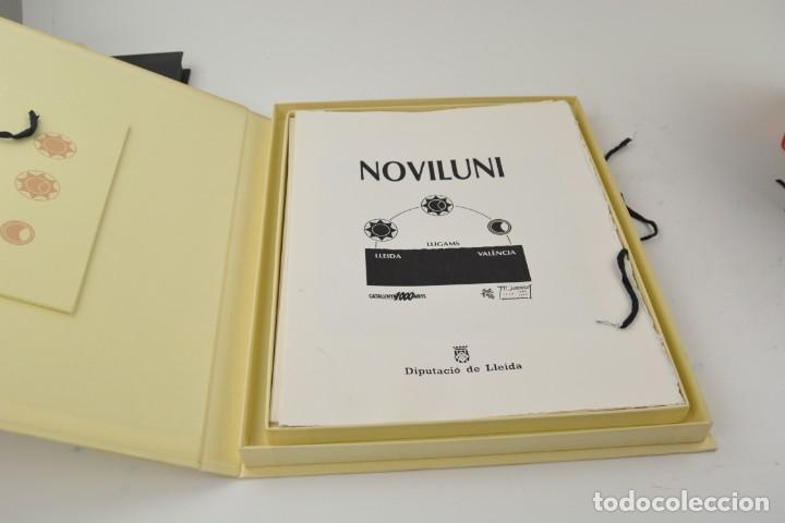 Arte: Carpeta Noviluni, lligams Lleida y València, 1989, edición conmemorativa con grabados originales. - Foto 2 - 255971140