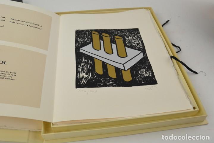 Arte: Carpeta Noviluni, lligams Lleida y València, 1989, edición conmemorativa con grabados originales. - Foto 3 - 255971140