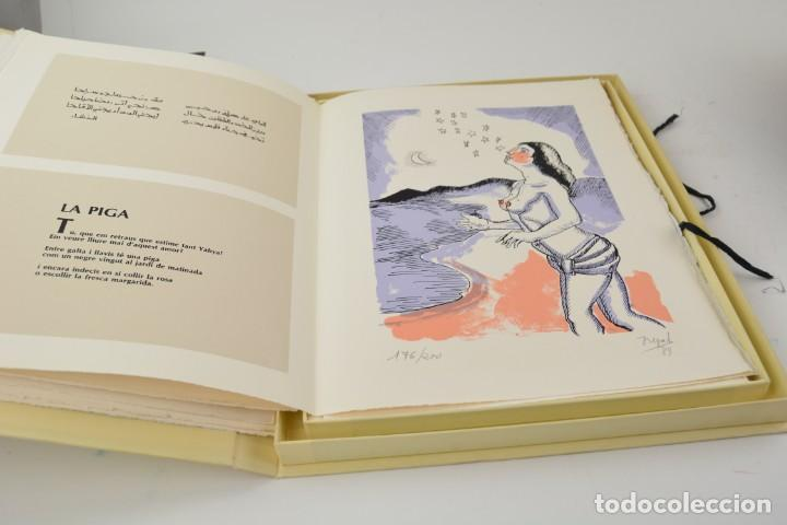 Arte: Carpeta Noviluni, lligams Lleida y València, 1989, edición conmemorativa con grabados originales. - Foto 5 - 255971140