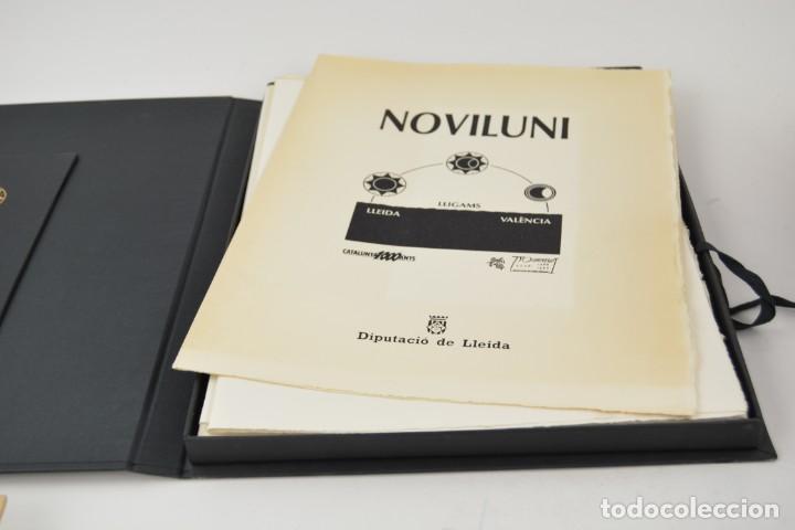 Arte: Carpeta Noviluni, lligams Lleida y València, 1989, edición conmemorativa con grabados originales. - Foto 2 - 255971460