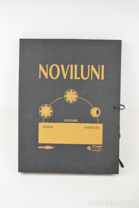 CARPETA NOVILUNI, LLIGAMS LLEIDA Y VALÈNCIA, 1989, EDICIÓN CONMEMORATIVA CON GRABADOS ORIGINALES. (Arte - Grabados - Contemporáneos siglo XX)