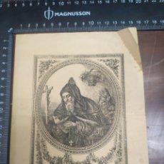 Arte: GRABADO SAN ANTONIO ABAD 1893 ALMERÍA. Lote 256133895