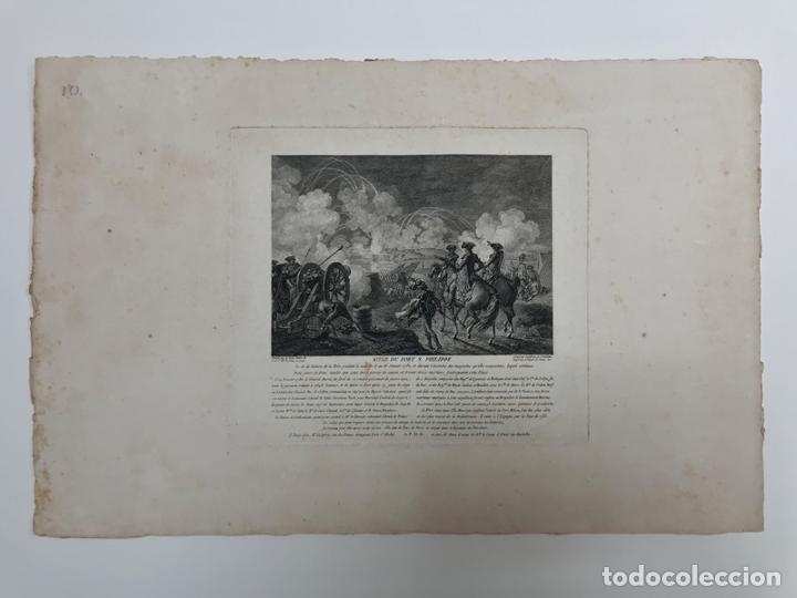 GRABADO ANTIGUO SIGLO XVIII FORT SAINT PHILIPPE MENORCA BALEARES 1785 - GODEFROY (Arte - Grabados - Antiguos hasta el siglo XVIII)