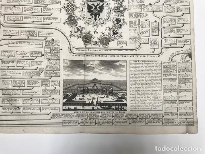 Arte: Grabado antiguo Casa de Los Austrias en España - Chatelain - Foto 5 - 256152015