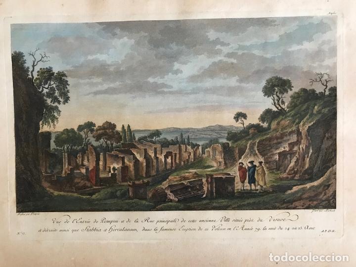 RUINAS ROMANAS DE LA CIUDAD DE POMPEYA (NÁPOLES, ITALIA), 1781. DESPRÉS/BERTHAULT/DE SAINT-NON (Arte - Grabados - Antiguos hasta el siglo XVIII)