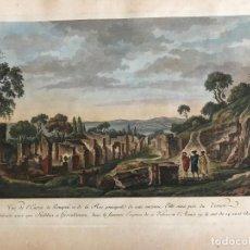 Arte: RUINAS ROMANAS DE LA CIUDAD DE POMPEYA (NÁPOLES, ITALIA), 1781. DESPRÉS/BERTHAULT/DE SAINT-NON. Lote 257305200