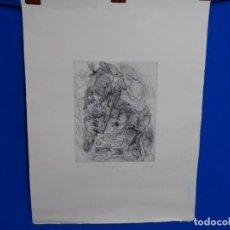 Arte: GRABADO ILEGIBLE. DEDICADO A LUIS VALLS. 1/50. AÑO 1988.. Lote 257353795