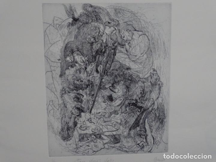 Arte: GRABADO ILEGIBLE. DEDICADO A LUIS VALLS. 1/50. AÑO 1988. - Foto 2 - 257353795