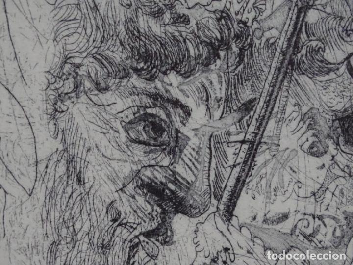 Arte: GRABADO ILEGIBLE. DEDICADO A LUIS VALLS. 1/50. AÑO 1988. - Foto 4 - 257353795