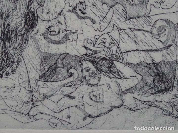 Arte: GRABADO ILEGIBLE. DEDICADO A LUIS VALLS. 1/50. AÑO 1988. - Foto 5 - 257353795