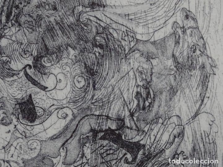 Arte: GRABADO ILEGIBLE. DEDICADO A LUIS VALLS. 1/50. AÑO 1988. - Foto 7 - 257353795