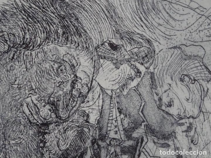 Arte: GRABADO ILEGIBLE. DEDICADO A LUIS VALLS. 1/50. AÑO 1988. - Foto 9 - 257353795