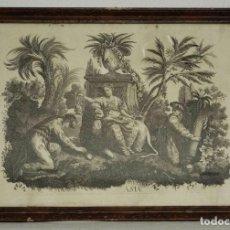 Arte: GRABADO BARROCO - SIGLO XVIII - CONTINENTE DE ASIA - 56 X 82 CM.. Lote 257601110