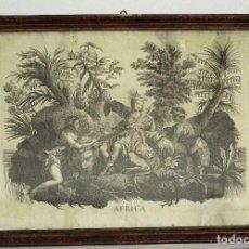 Arte: GRABADO BARROCO - SIGLO XVIII - CONTINENTE AFRICANO - 56 X 82 CM.. Lote 257601700