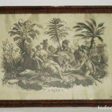 Arte: GRABADO BARROCO - SIGLO XVIII - CONTINENTE DE AMERICA - 56 X 82 CM.. Lote 257616075