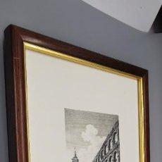 Arte: GRABADO LA IGLESIA DE SANTA COLUMBA Y EL ACUEDUCTO DESDE EL AZOGUEJO .A. DE LABORDE SEGOVIA 1812. Lote 257669405