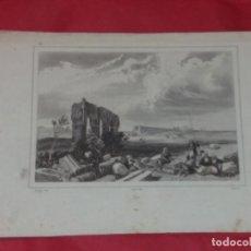 Arte: ANTIGUO GRABADO. RUINAS DE LA CIUDAD DE TIRO. TYR. HARDING, AUDOT, AUBERT.. Lote 257942275