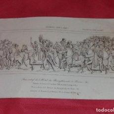 Arte: ANTIGUO GRABADO. BAJO RELIEVE DEL PALACIO DE BURGTERUDE, EN RUAN. SELLEIRE, LEMAITRE. FRANCIA.. Lote 257951855