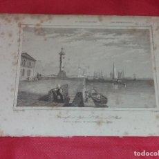 Arte: ANTIGUO GRABADO. FUERTE E IGLESIA DE SAN PEDRO Y SAN PABLO, SAN PETERSBURGO. LEMAITRE, CHOLET.. Lote 257952520