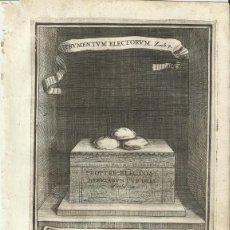 Arte: GRABADO DE LAS HONRAS QUE SE HICIERON A SU CATÓLICA MAJESTAD DE FELIPE IV MADRID AÑO 1666 S. XVII. Lote 258016725