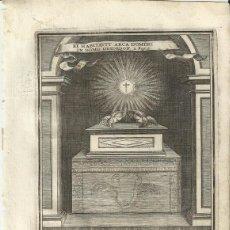Arte: GRABADO DE LAS HONRAS QUE SE HICIERON A SU CATÓLICA MAJESTAD DE FELIPE IV MADRID AÑO 1666 S. XVII. Lote 258017040