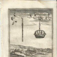 Arte: GRABADO DE LAS HONRAS QUE SE HICIERON A SU CATÓLICA MAJESTAD DE FELIPE IV MADRID AÑO 1666 S. XVII. Lote 258022130