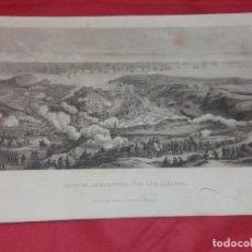Arte: ANTIGUO DUBUJO Y GRABADO POR E. LECHARD EN BARCELONA. SITIO DE SEBASTOPOLPOR LOS ALIADOS. Lote 258252350
