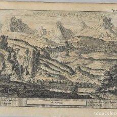 Arte: ALHAMA. GRANADA. GRABADO DE PIETER VAN DER AA EN 1707. Lote 56399120