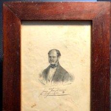 Arte: GRABADO ENMARCADO DE JOAQUÍN JOSÉ CERVINO. L. F. GUERRA. LIT. DE J. DONON. [1850 H.]. Lote 260269760