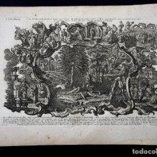 Arte: KLAUBER. HISTORIAE BIBLICAE 42. LIBER REGUM. IEROBOA. 1750 H. ROCOCÓ. BARROCO.. Lote 260270095