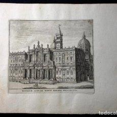 Arte: BASÍLICA DE SANTA MARÍA MAYOR. AGUAFUERTE. 1779. GRAND TOUR. ROMA. STAMPERIA DI GIO.BATT. CANNETTI A. Lote 260270130