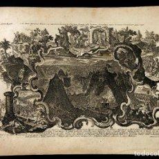Arte: KLAUBER. HISTORIAE BIBLICAE 33. LIBER REGUM. DAVID ABISAI. 1750 H. ROCOCÓ. BARROCO.. Lote 260270250