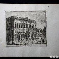 Arte: PALAZZO DELLA CONSULTA. AGUAFUERTE. 1779. GRAND TOUR. ROMA. STAMPERIA DI GIO.BATT. CANNETTI APPR. GA. Lote 260270345