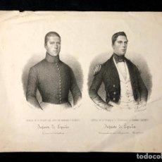 Arte: RETRATO DE D. FRANCISCO DE ASÍS Y D. ENRIQUE FERNANDO DE BORBÓN Y BORBÓN. [1840 H.] FRANCISCO PÉREZ,. Lote 260270415