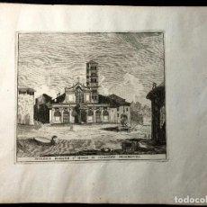 Arte: IGLESIA DE SANTA MARÍA EN COSMEDIN. AGUAFUERTE. 1779. GRAND TOUR. ROMA. GIO.BATT. CANNETTI APPR. GAE. Lote 260270425