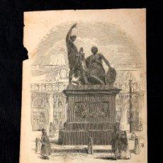 Arte: MONUMENTO ERIGIDO A MININE Y POJARSKI EN MOSCOU. SEGUNDA LÁMINA EN BRONCE IMPRESA EN ESPAÑA. [1850 H. Lote 260270705