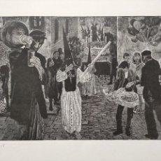 Arte: FRANCISCO CUADRADO LAGARES, PACO CUADRADO (SEVILLA 1939-2017) FORMÓ PARTE DEL GRUPO ESTAMPA POPULAR. Lote 260340790