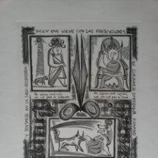 Arte: CUADRO DE RAFAEL ALBERTI. Lote 260414150