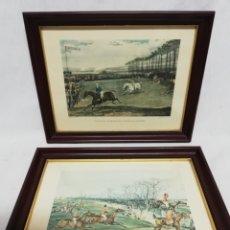 Arte: GRABADOS DE H. ALKEN Y F. C. TURNER. MARCOS EN MADERA NOBLE.. Lote 260506255