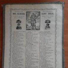 Arte: GOIGS DEL GLORIÓS SANT JULIÁ . IMATGE EN EL SANTUARI DE LA MIANA. Lote 260656855