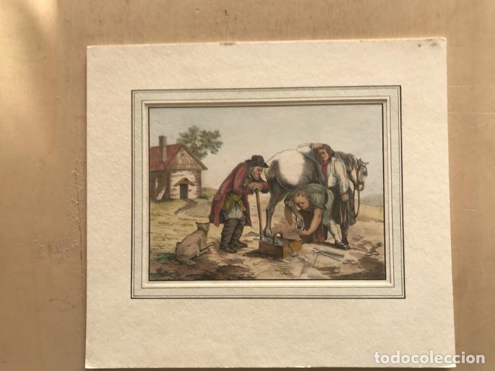 Arte: El trabajo del herrero, hacia 1870. Anónimo - Foto 2 - 260726295