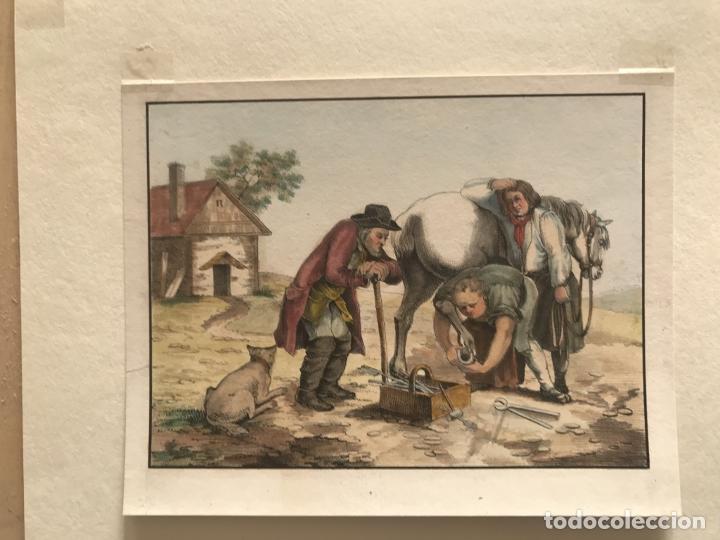 Arte: El trabajo del herrero, hacia 1870. Anónimo - Foto 3 - 260726295