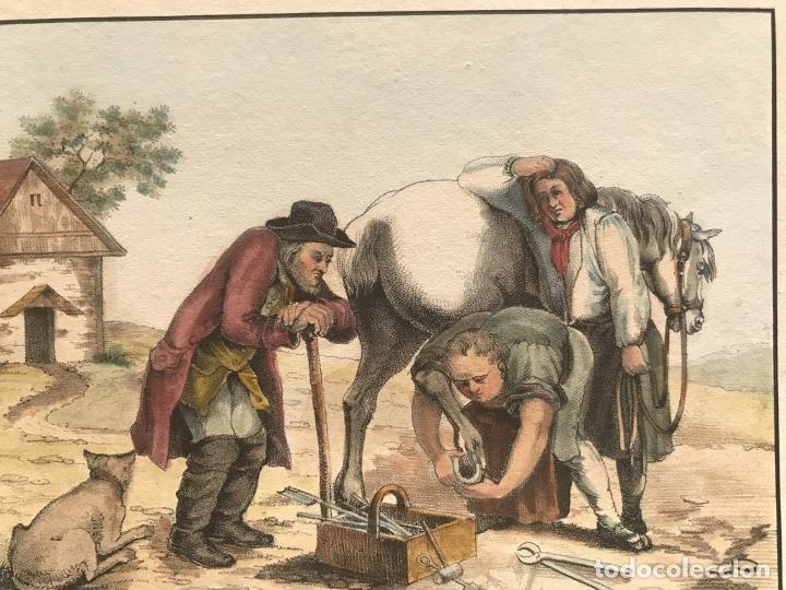 Arte: El trabajo del herrero, hacia 1870. Anónimo - Foto 4 - 260726295