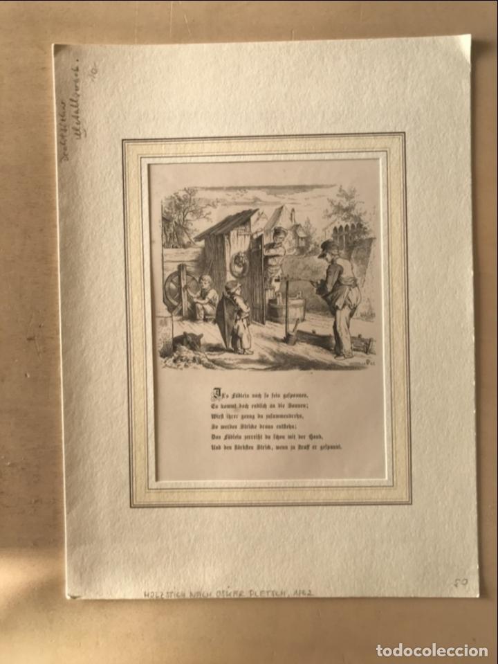 Arte: Hombres trabajando y niño mirando, hacia 1862. - Foto 2 - 260728805