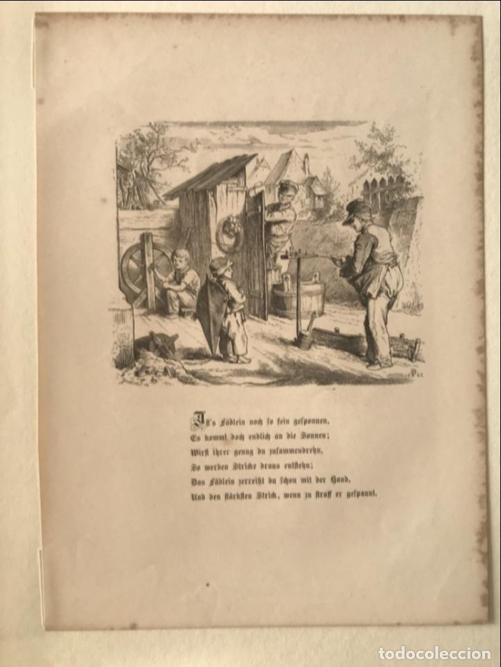 Arte: Hombres trabajando y niño mirando, hacia 1862. - Foto 4 - 260728805